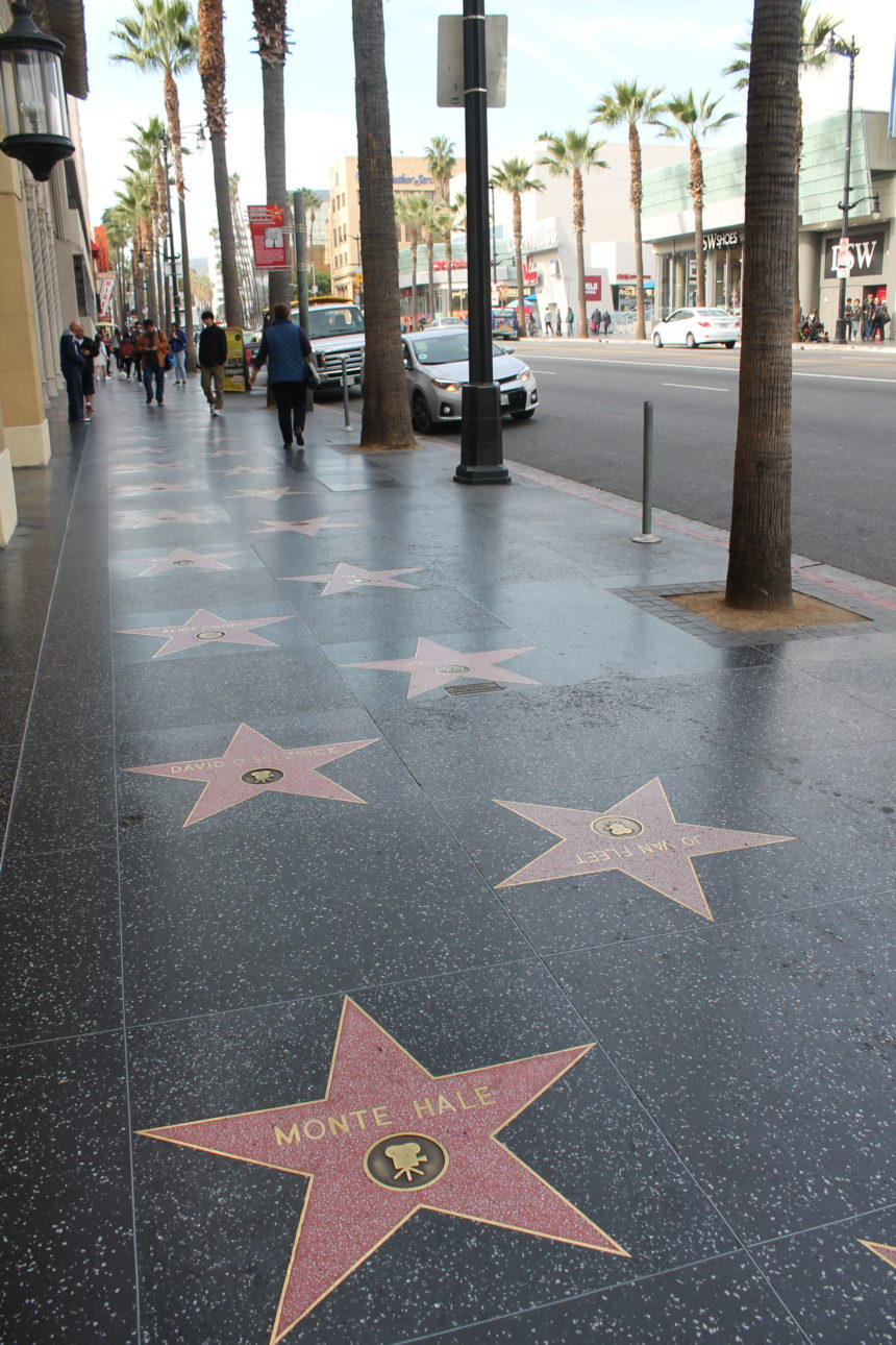 Hollywood Walk of Fame in Hollywood, Los Angeles, CA