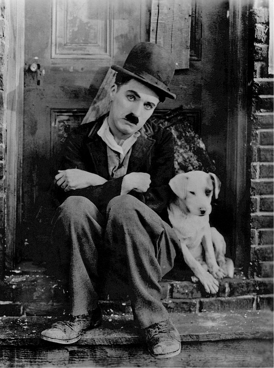 Charlie Chaplin and Dog in The Circus