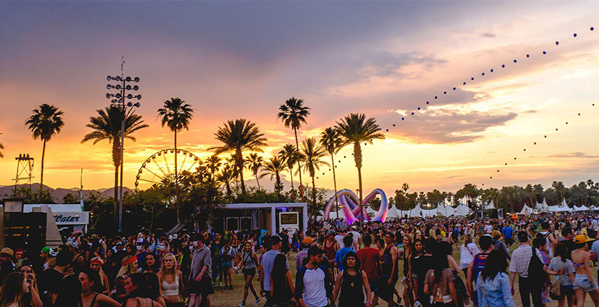 Coachella Festival Sunset