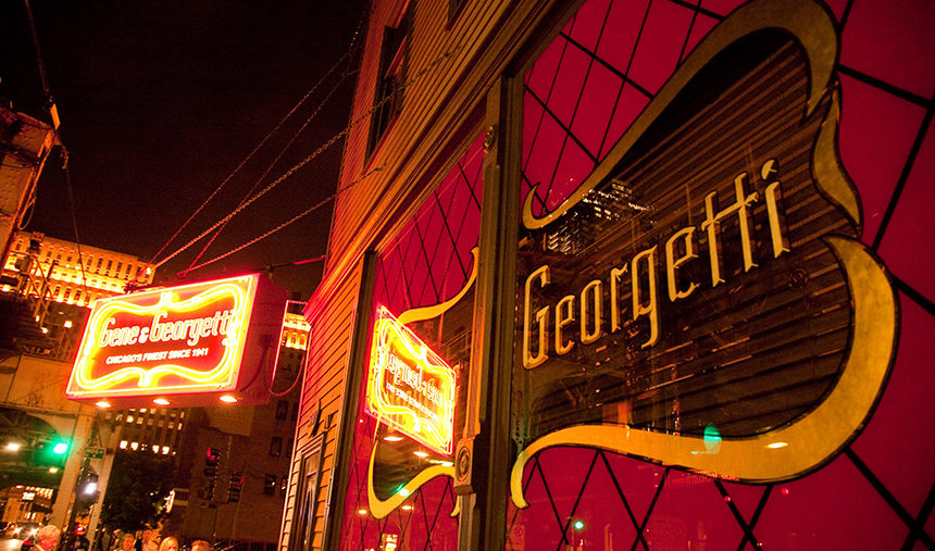 Gene and Georgetti classic Chicago restaurant