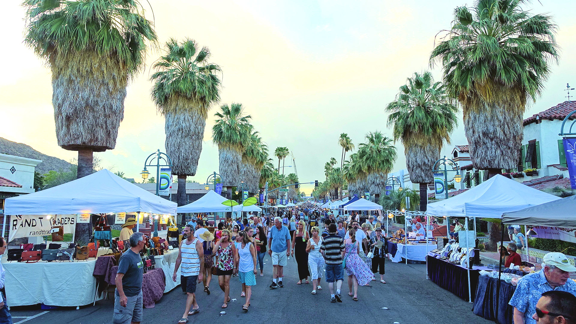 Village fest is your thursday night to do in downtown palm for Palm springs craft fair