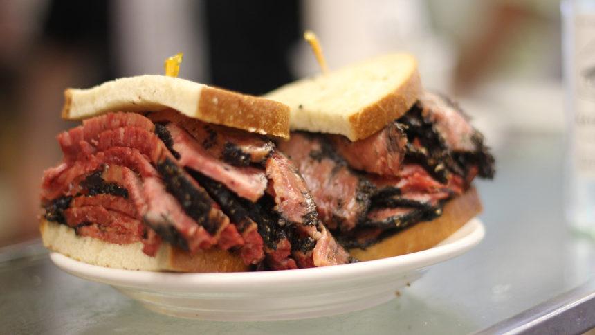 Pastramic sandwich at Katz