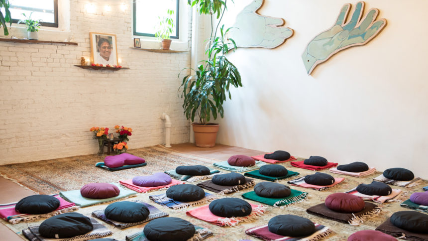 The meditation room at Maha Rose Center