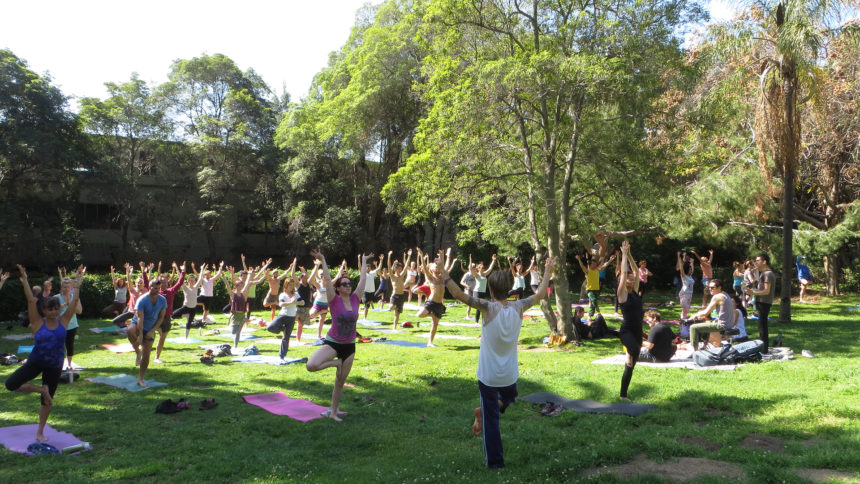 Yoga classes in Runyon Canyon