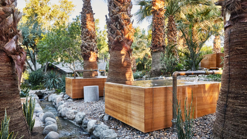 Soaking tubs at Two Bunch Palms
