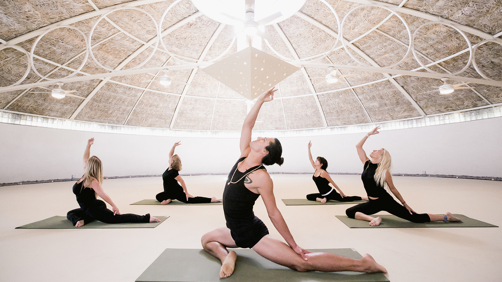 Image result for two bunch palms yoga dome
