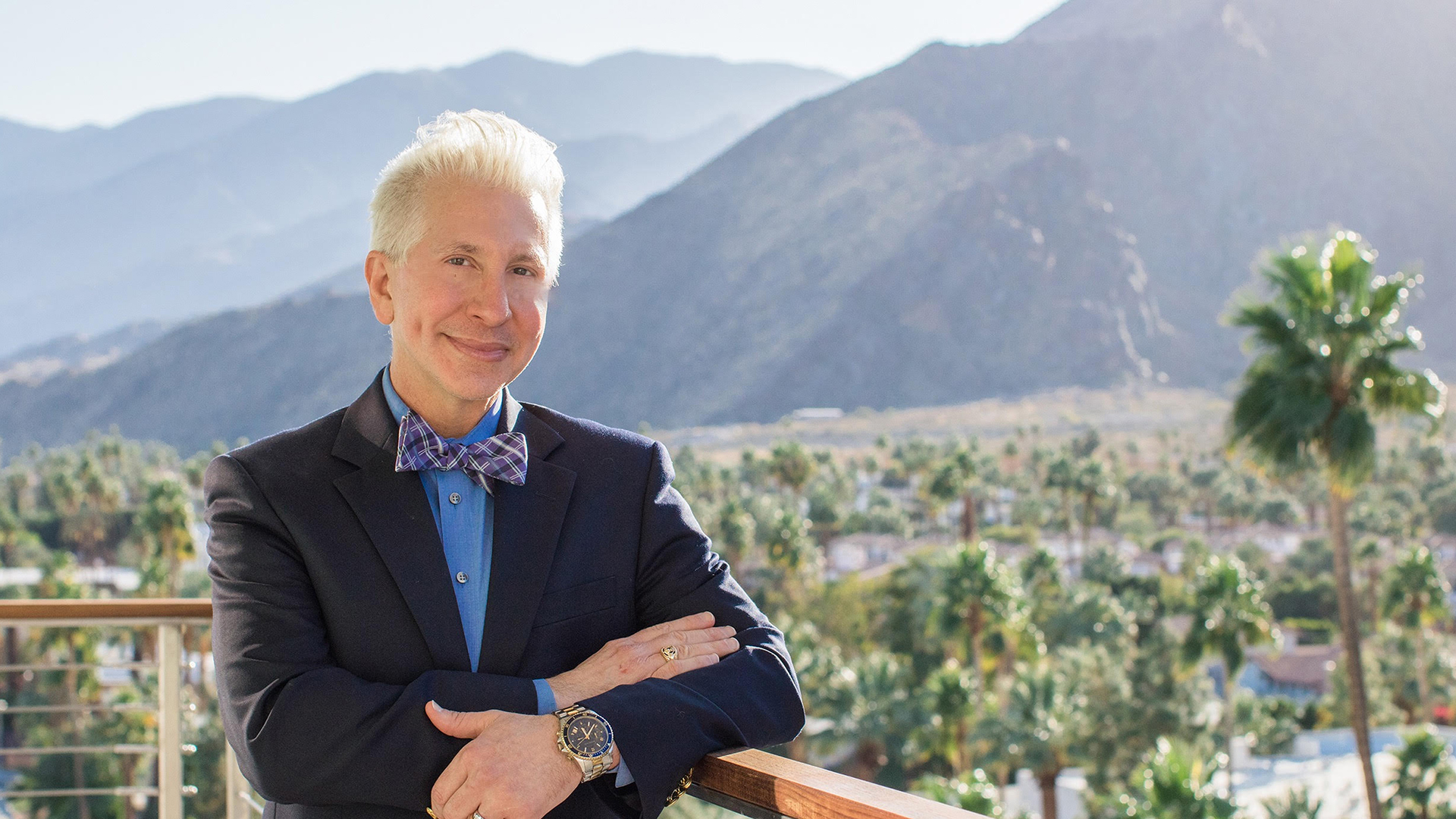 Barry Nadeau at his Palm Springs hair salon, Brush