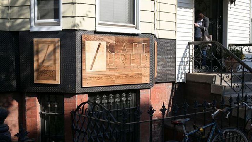 Captured tracks record storefront in New York City