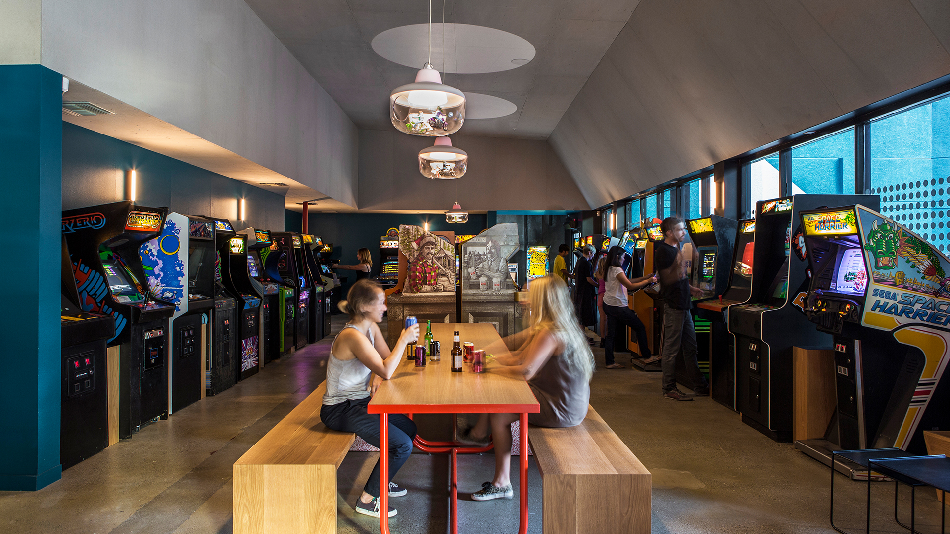 The coolest arcade bars in Los Angeles, California.