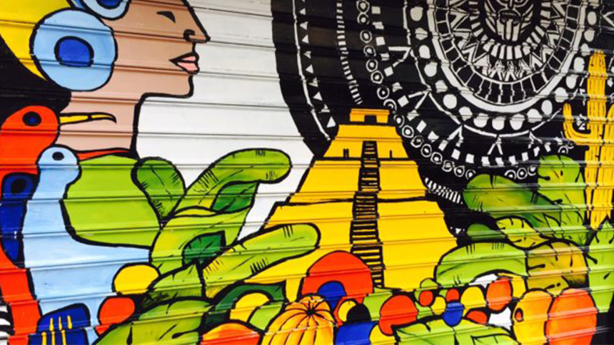 A Mexico mural as part of the 100 Gates project in New York City