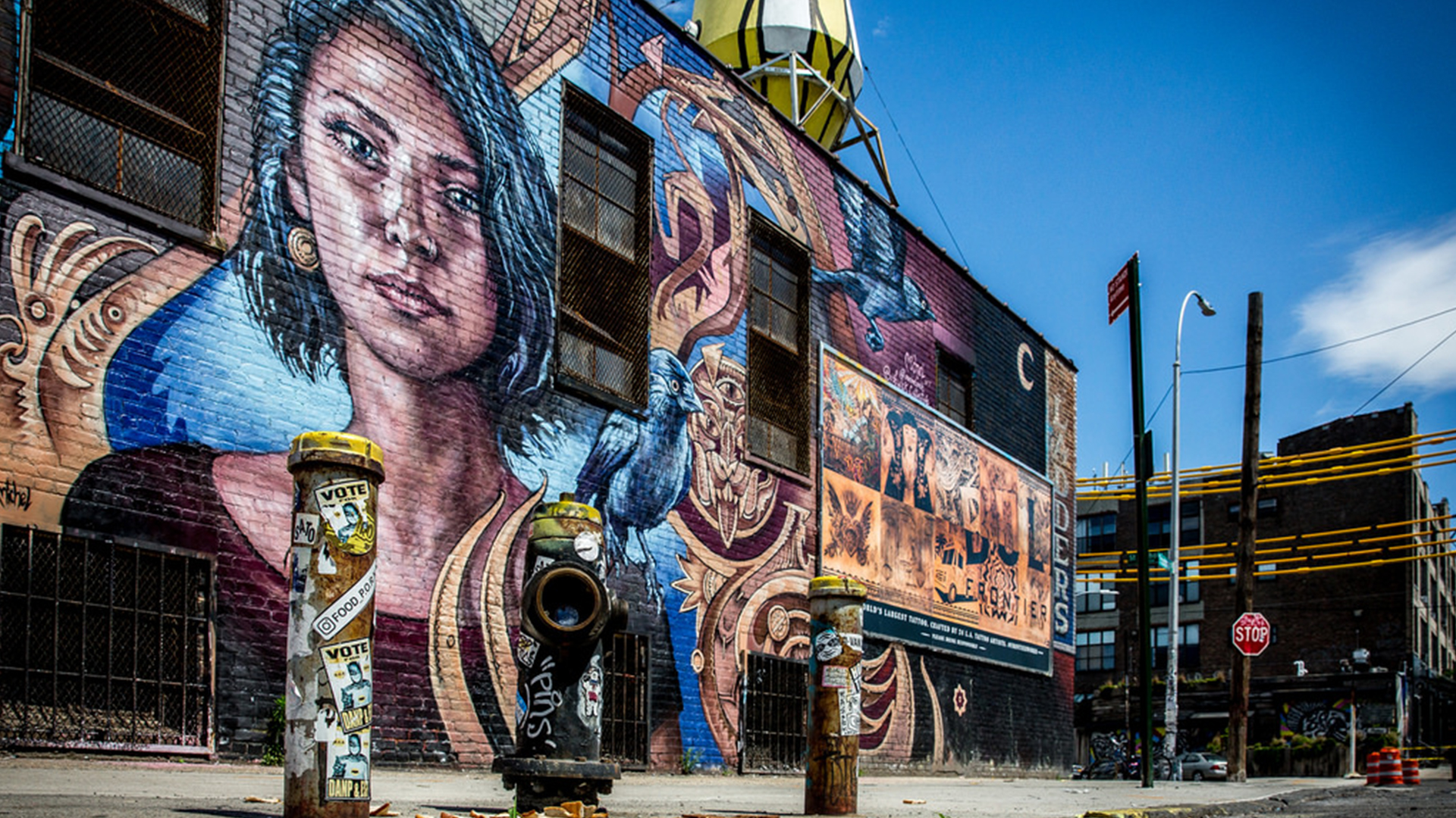 Mural of woman from Buchwick in New York City