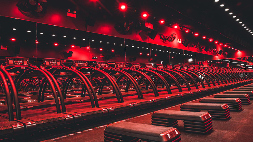 Barry's Bootcamp fitness studio in NoMad, New York City.