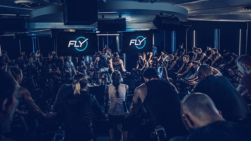 Flywheel Sports fitness studio in NoMad, New York City.