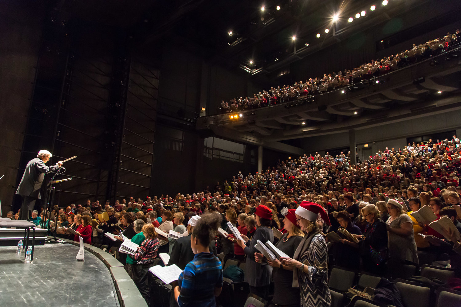 Do-It-Yourself Messiah holiday caroling at Harris Theater, Chicago.