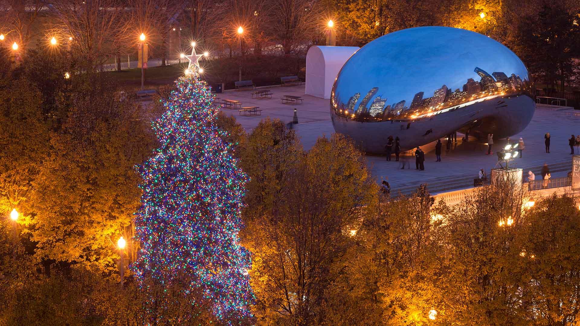 Holidays at Millennium Park in Chicago.