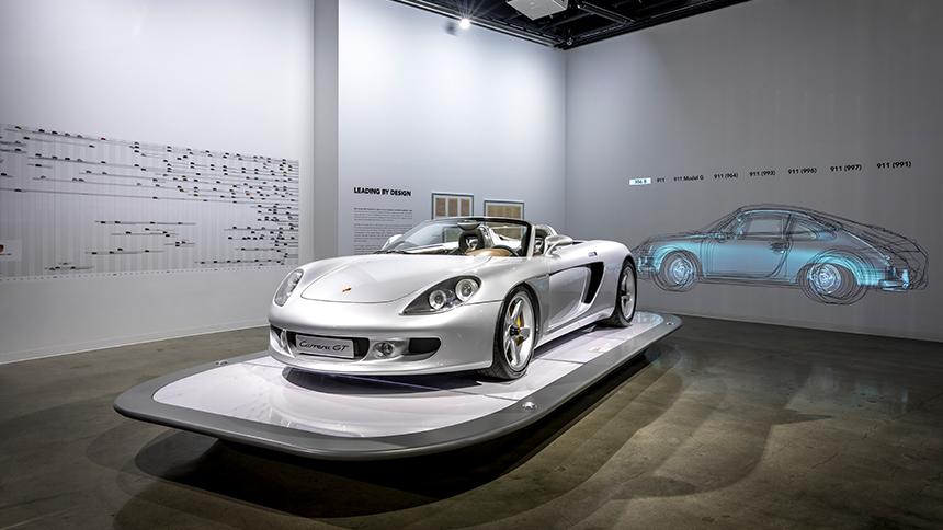 The Porsche Effect exhibit at Petersen Automotive Museum, Los Angeles.