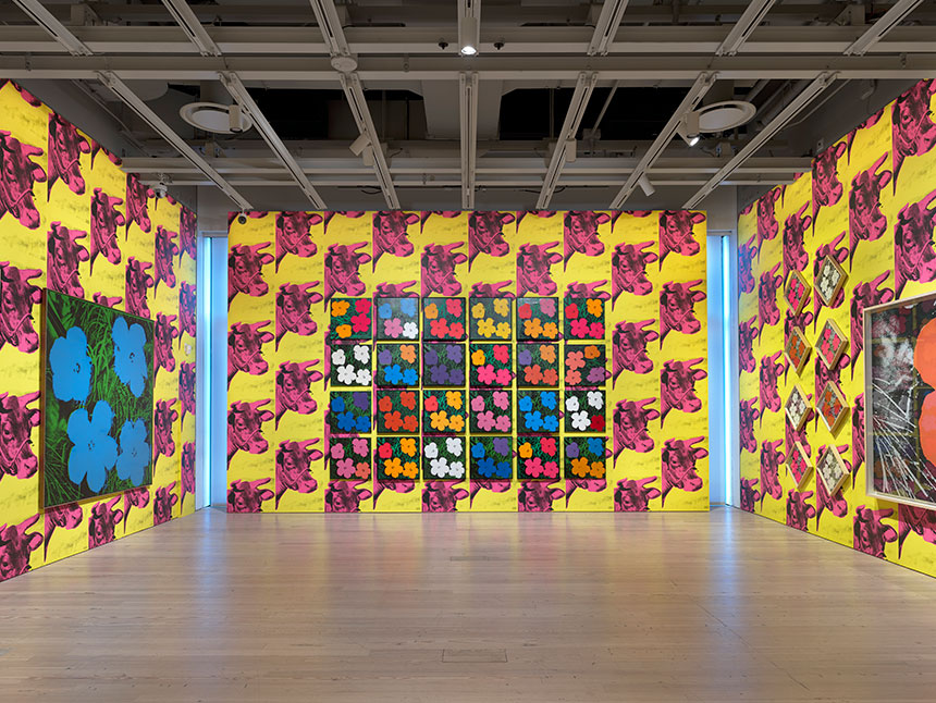 Warhol exhibit at Whitney Museum of American Art in New York City