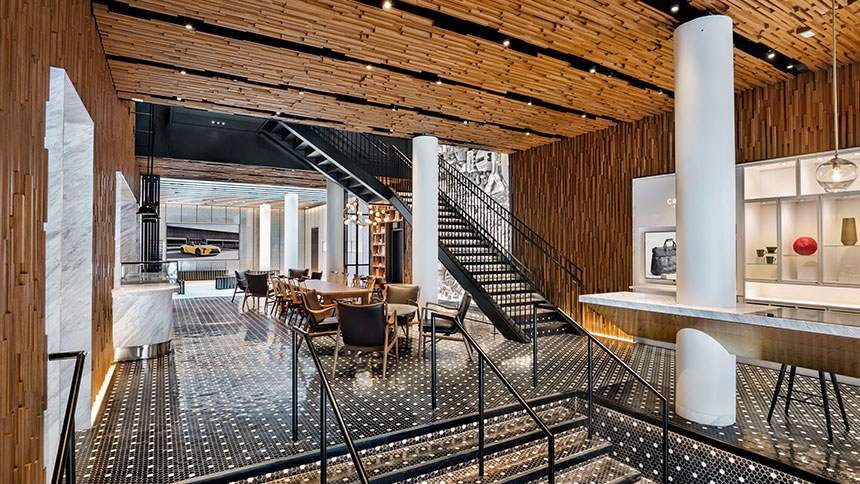 The interior of Intersect by Lexus in New York City