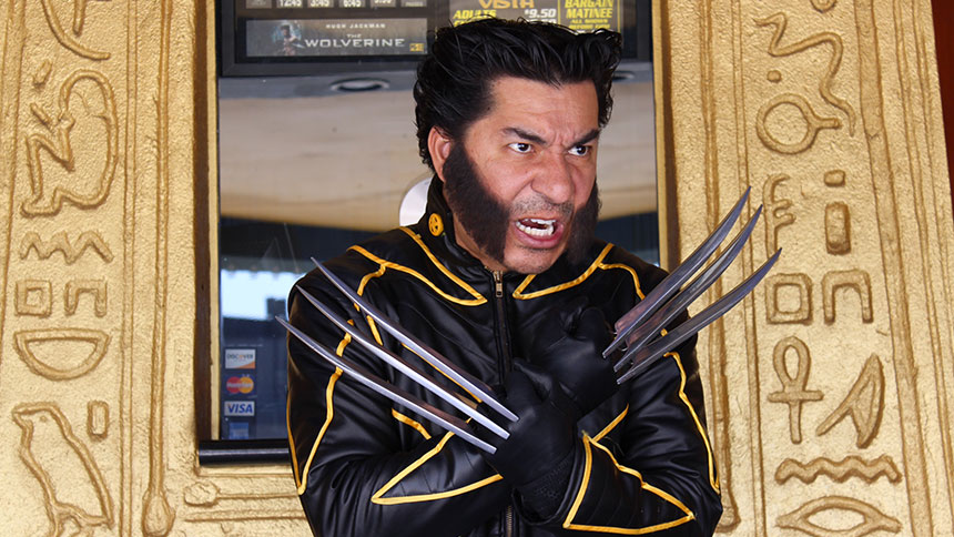 Victor as Wolverine at Vista Theatre in Los Angeles, California