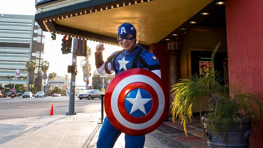 Captain America at the Vista Theatre in Los Angeles, California.