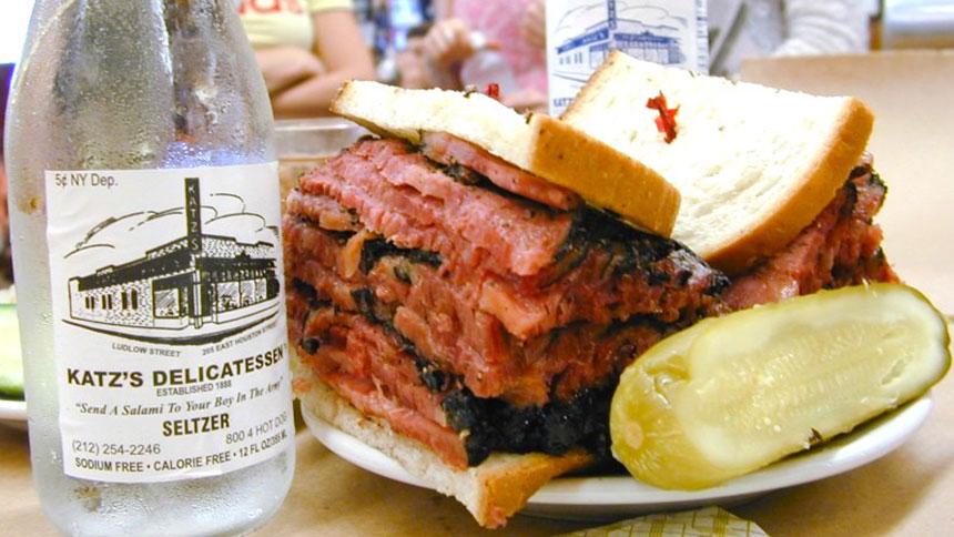 A sandwich from Katz Delicatessen in New York City, New York