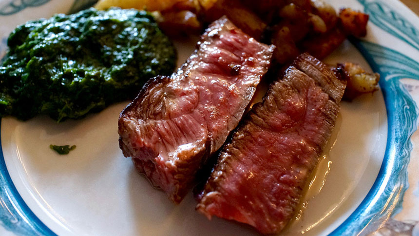 Steak plate for two at Peter Luger in New York City