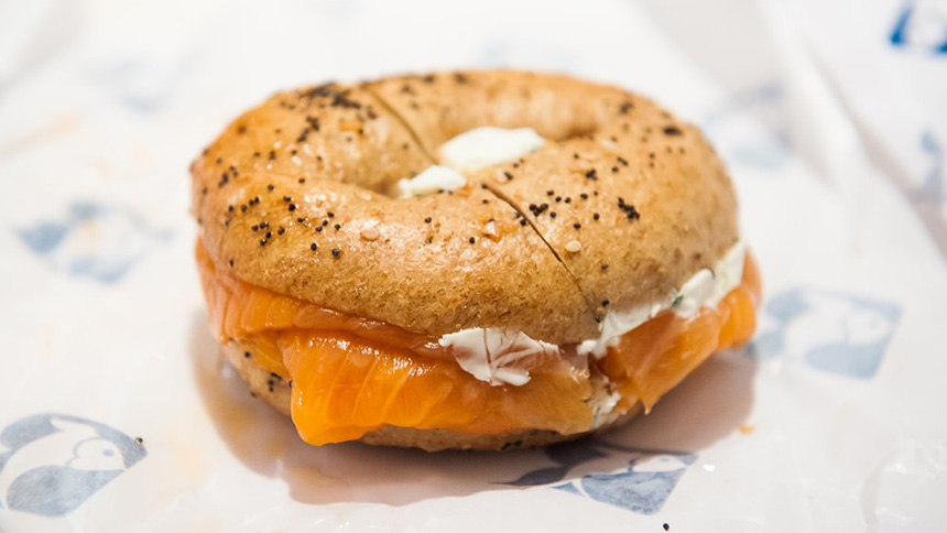 Russ and Daughters Bagel and Lox