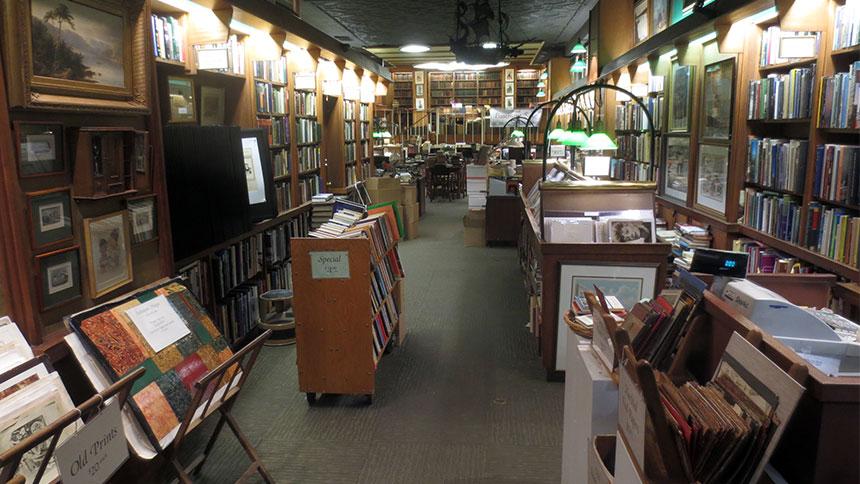 The interior of Argosy bookstore in New York City