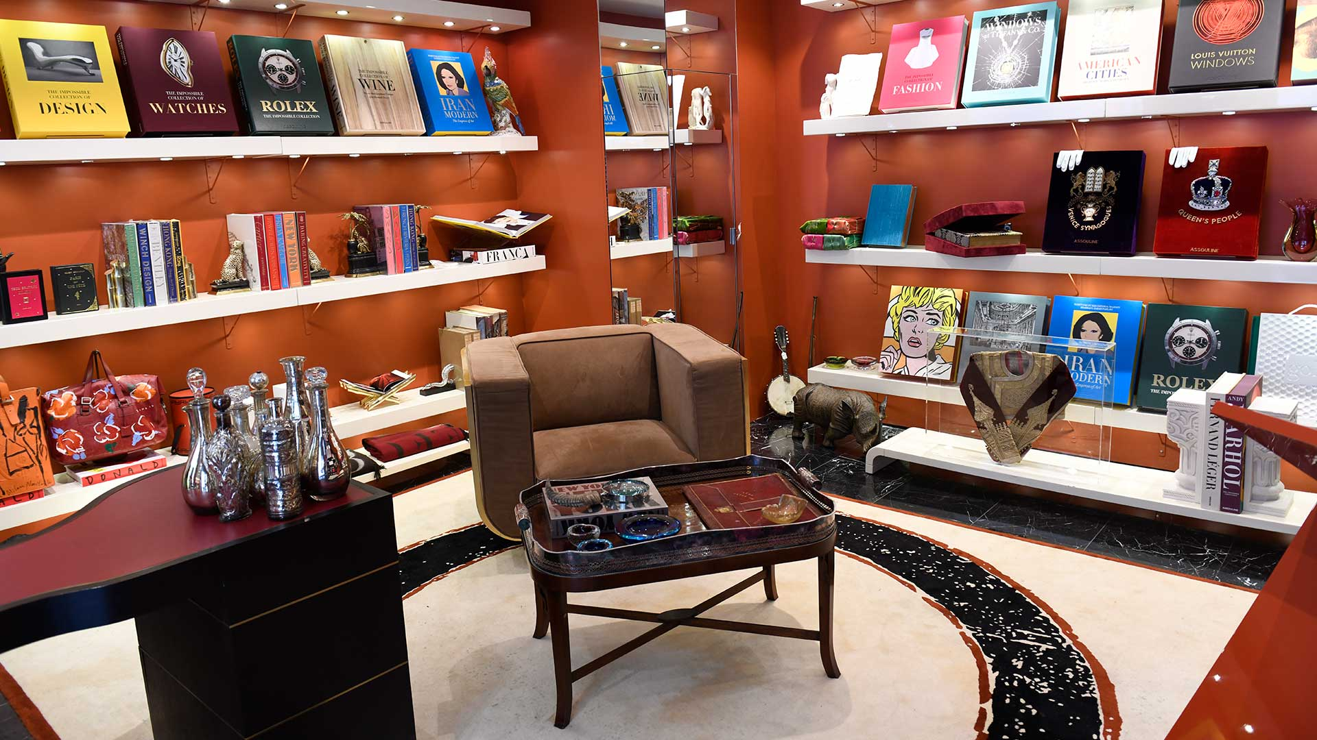 The inside of Assouline bookstore in New York City