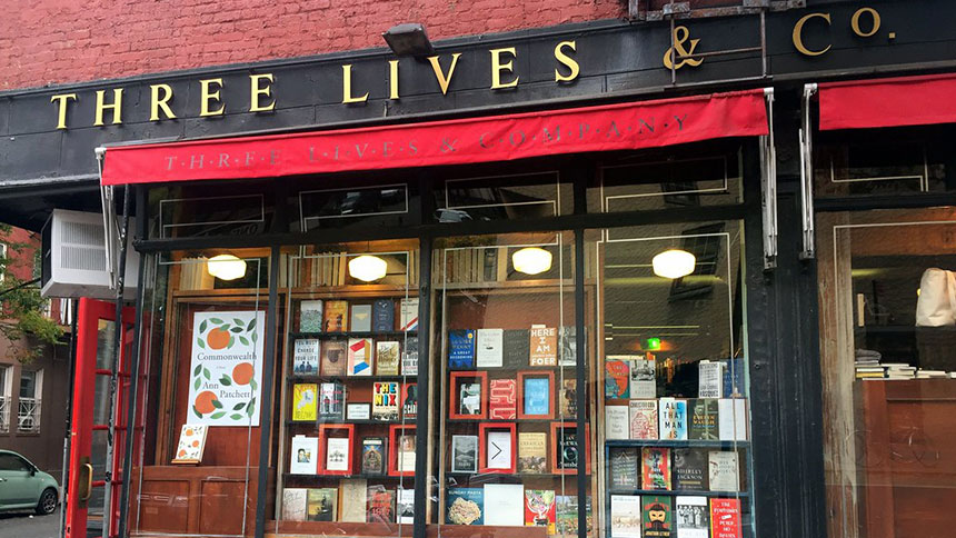 Three Lives and Co bookstore in New York City