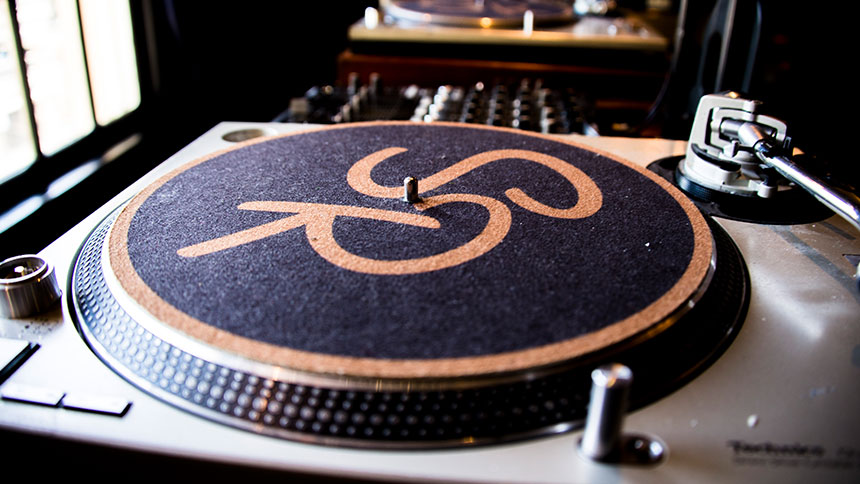 Turntable in the Spare Room in Hollywood, California