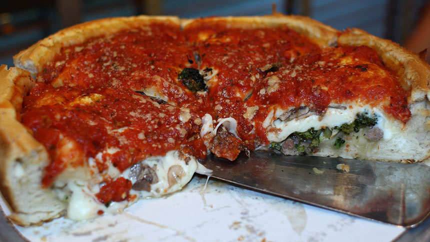 Giordano's Pizza in Chicago, Illinois
